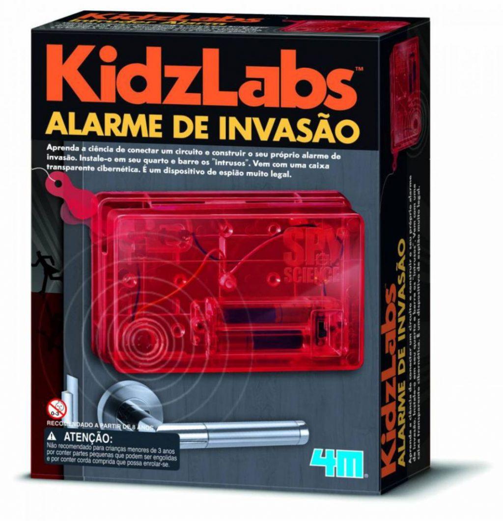 Embalagem do kit alarme de invasão