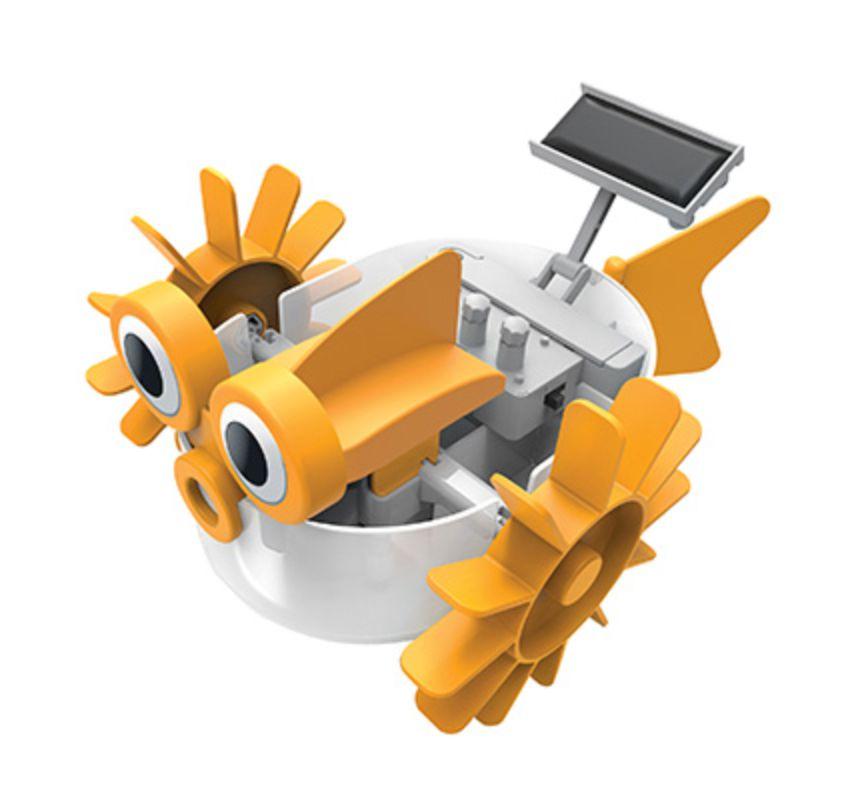 Robô aquático montado