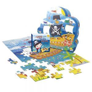 Coleção aventuras do mundo quebra-cabeça o navio perdido do pirata percival