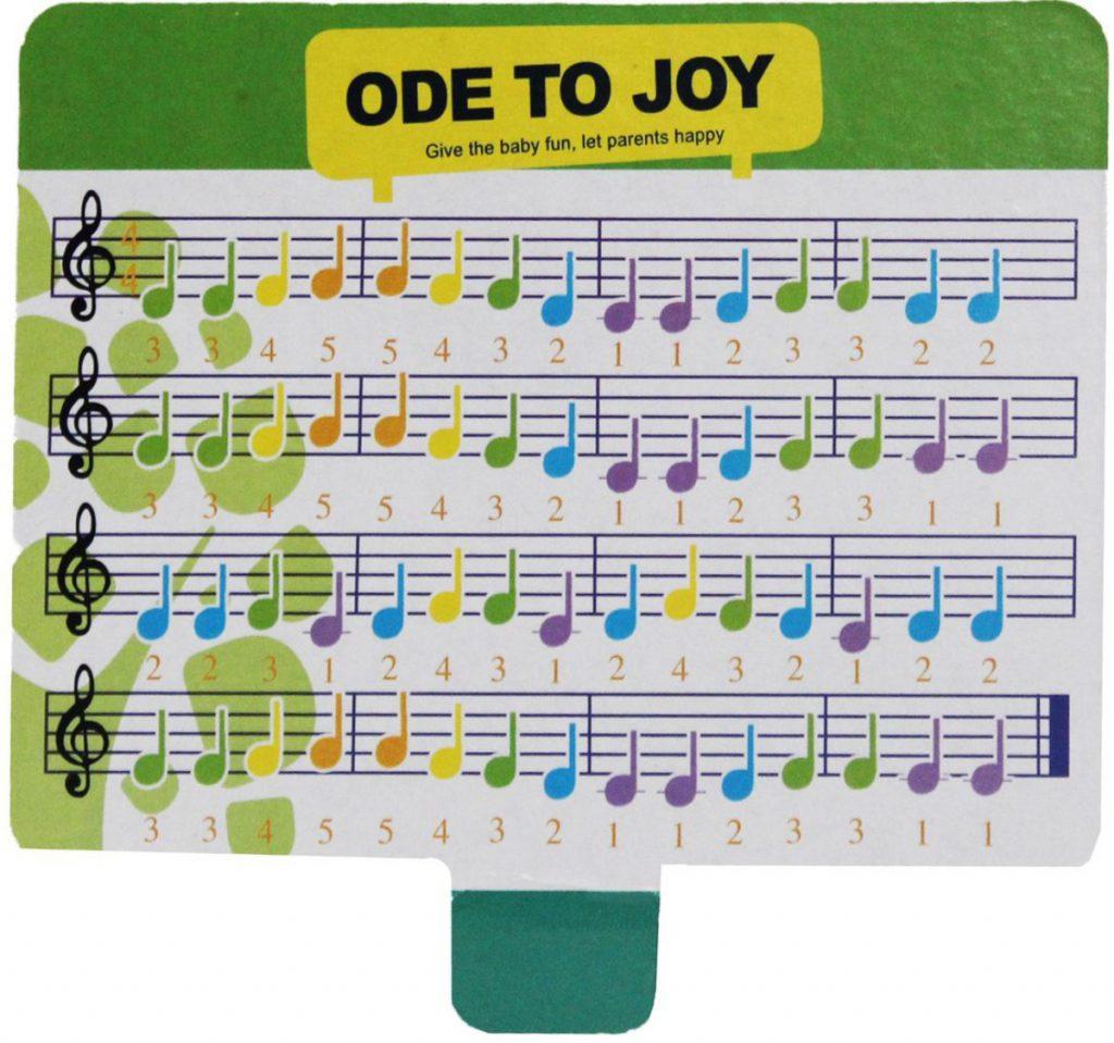 Partitura 1 do Pianinho Baby Xilofone