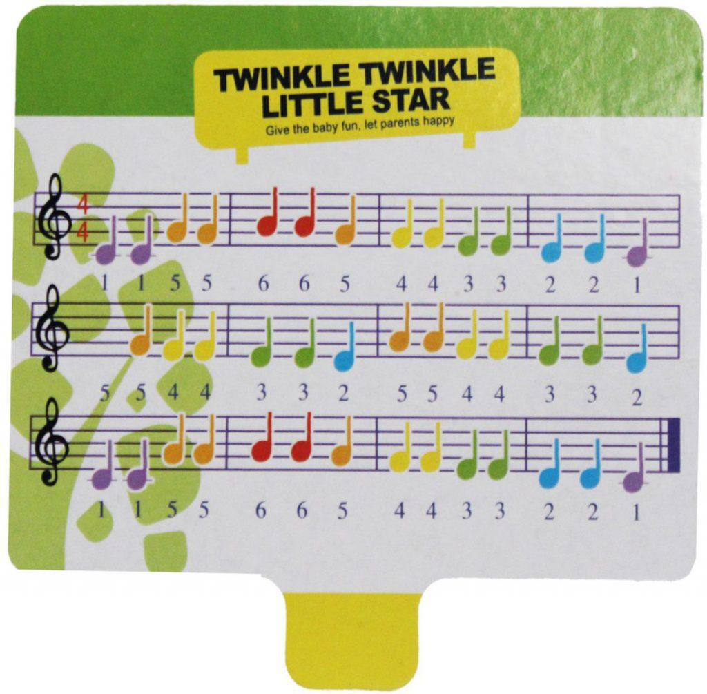 Partitura 2 do Pianinho Baby Xilofone