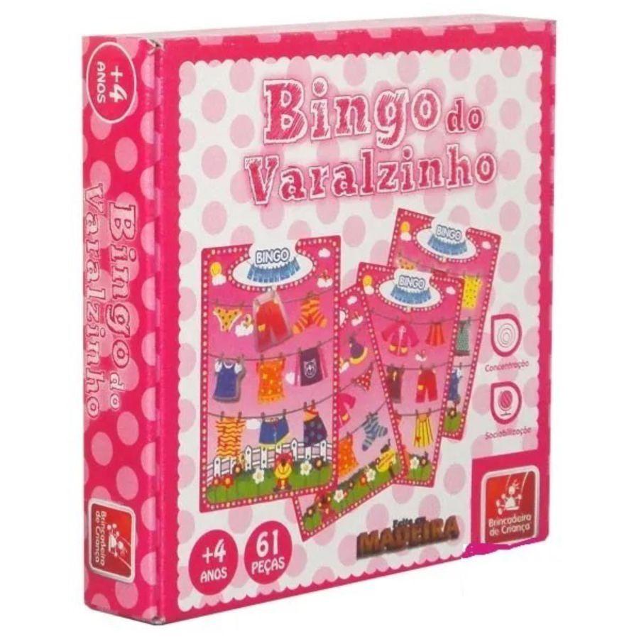 Embalagem do bingo do varalzinho