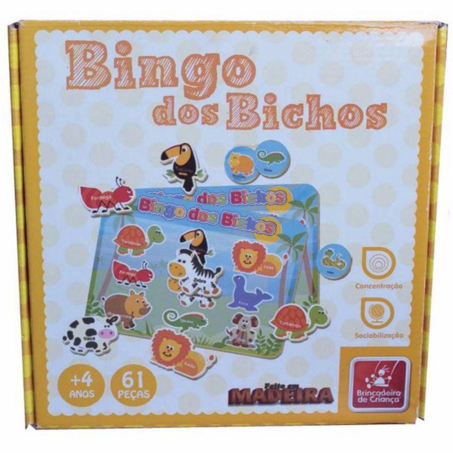 Embalagem do bingo dos bichos