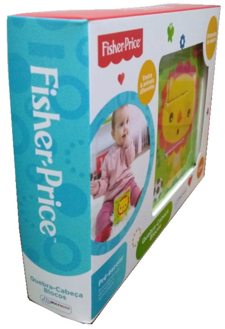 embalagem do Quebra-cabeça 9 blocos de madeira bichinhos brincalhões