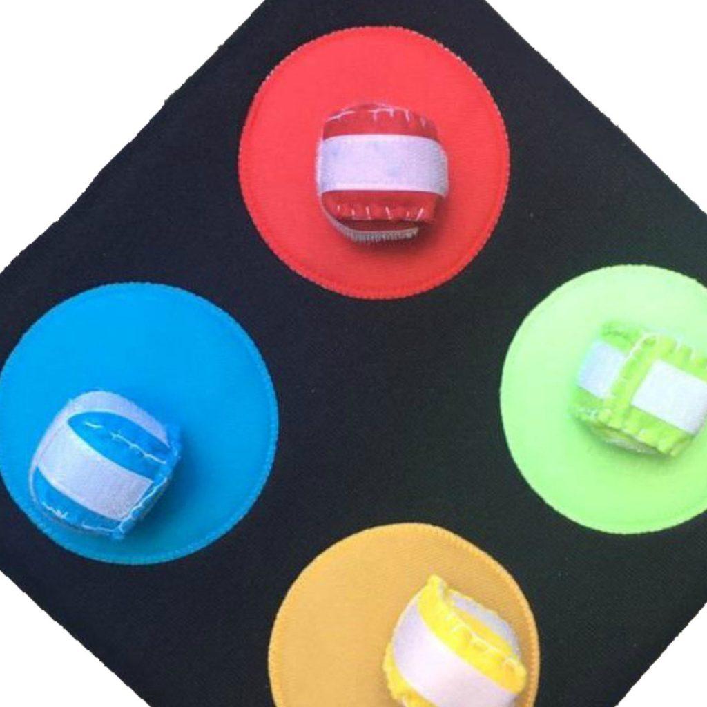 Bola ao alvo 4 cores em foco