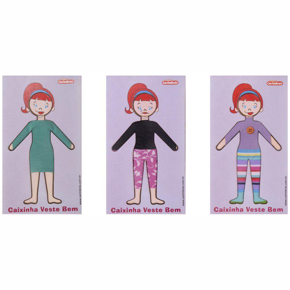 três looks de bonecas da caixinha veste bem ela