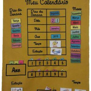 Brinquedo Educativo Meu Calendário Amarelo