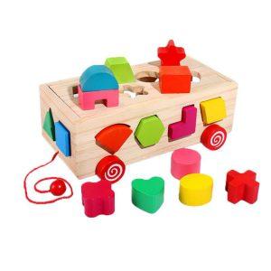 Caixa de encaixes formas carrinho