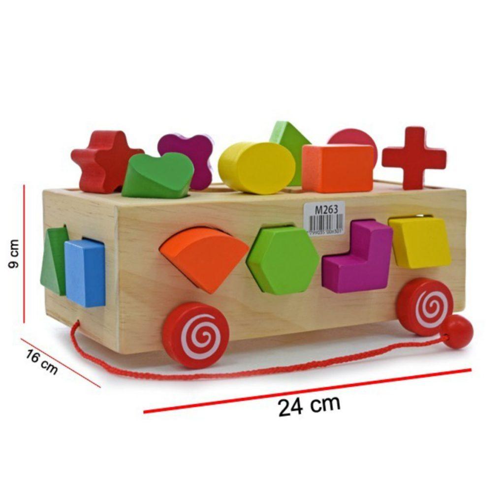 Caixa de encaixes formas carrinho medidas