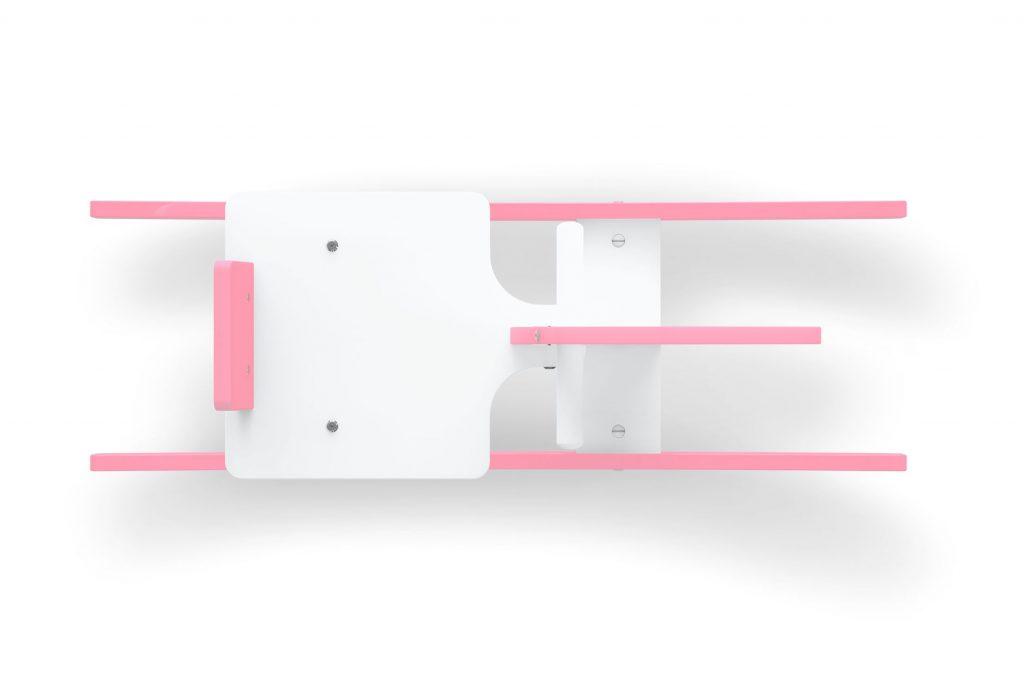 Cavalinho gangorra rosa em madeira