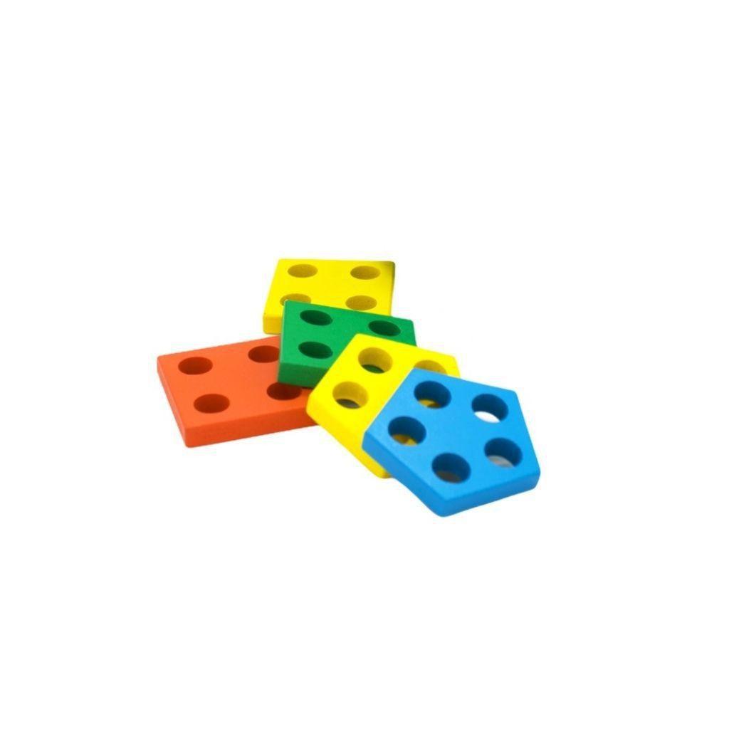 peças da Centopeia de encaixe formas geométricas