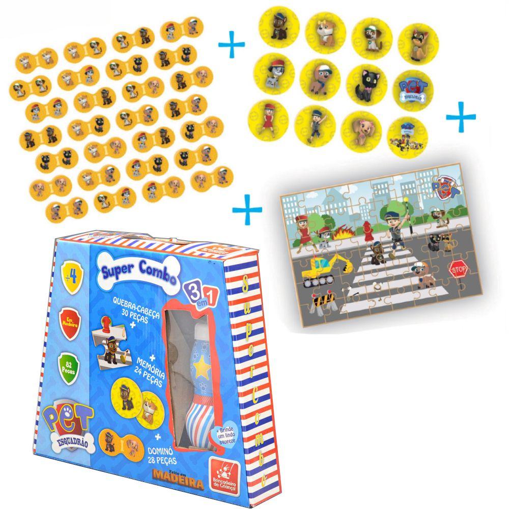 Brinquedo Educativo Super Combo Esquadrão Pet