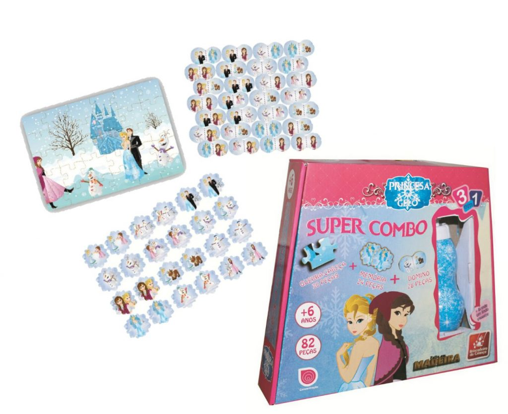 Super combo princesa do gelo e sua peças
