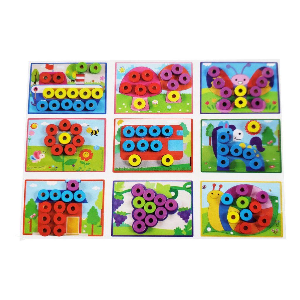 6 cartões de animais coloridos
