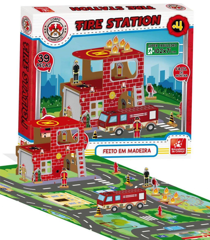 Embalagem mais Tabuleiro do corpo de bombeiros montado