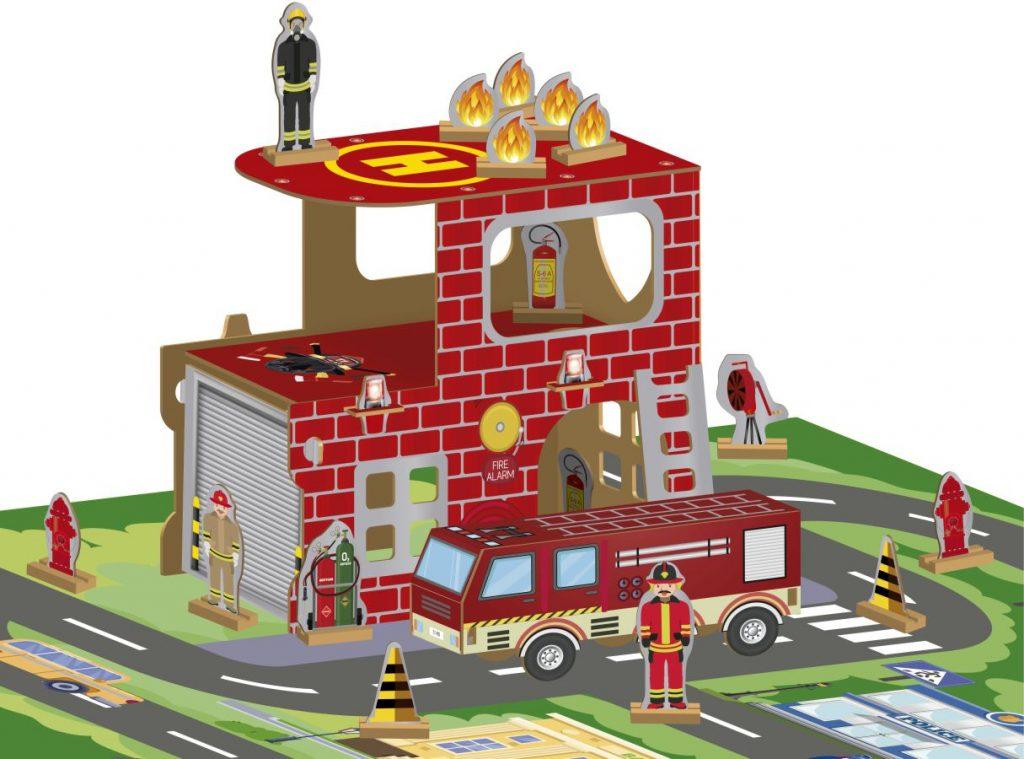 Tabuleiro do corpo de bombeiros montado
