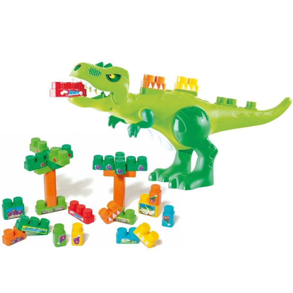 Dino jurássico com peças