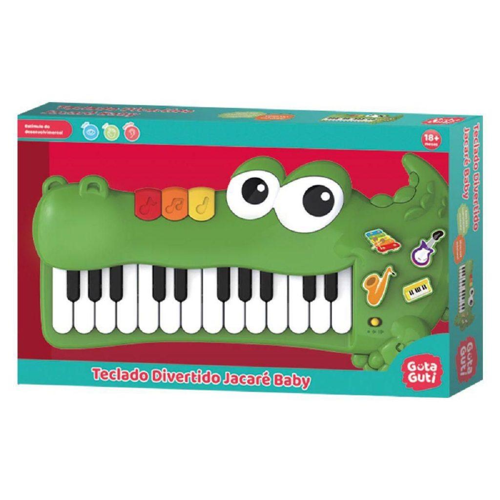 Embalagem do teclado divertido jacaré baby