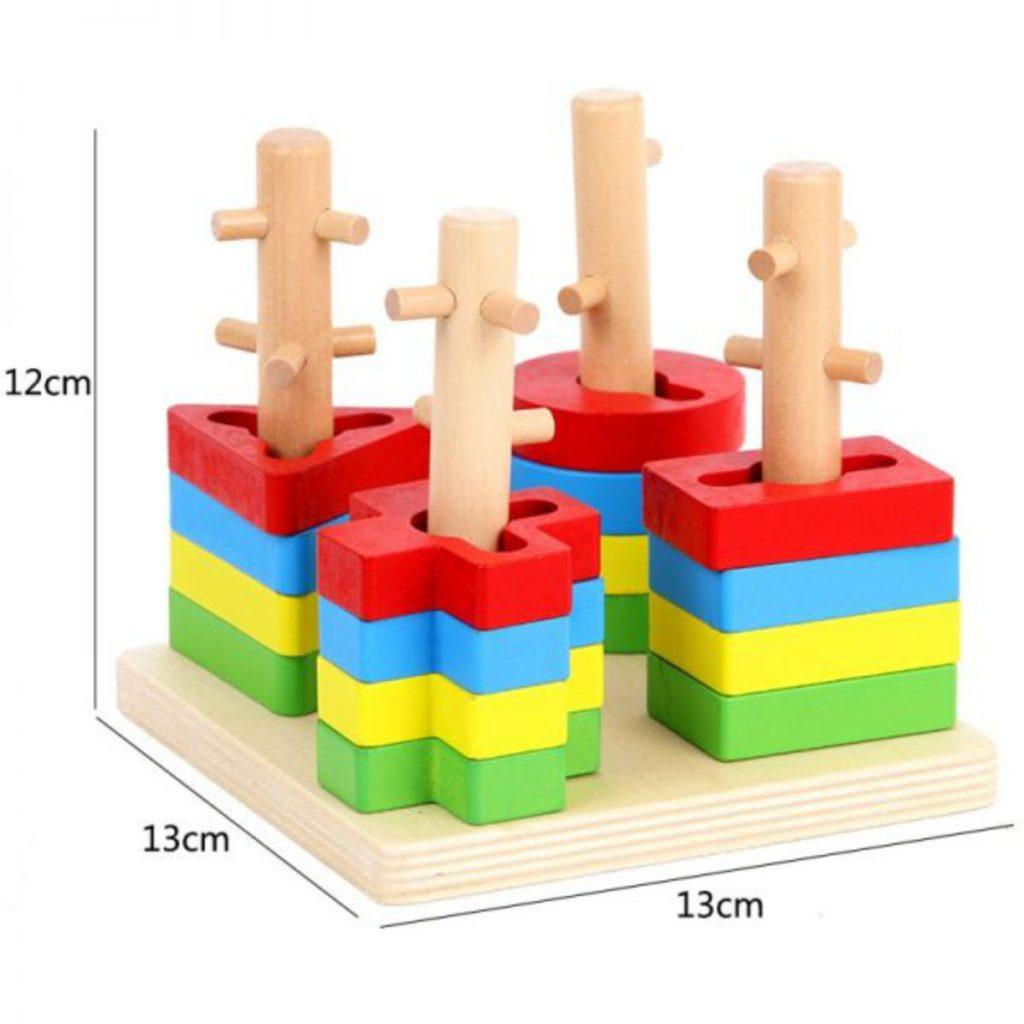 Encaixe de formas 4 colunas medidas