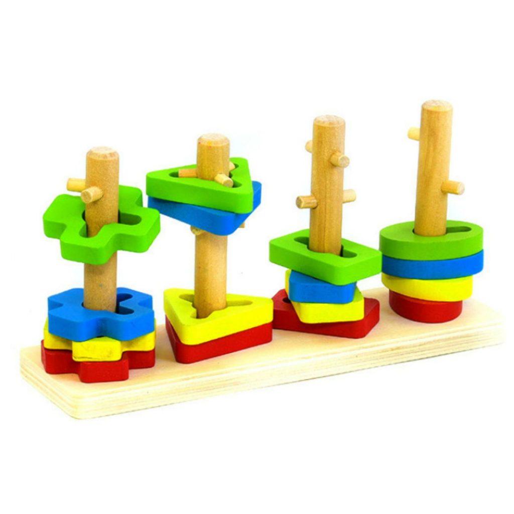 Encaixe de formas com 4 colunas
