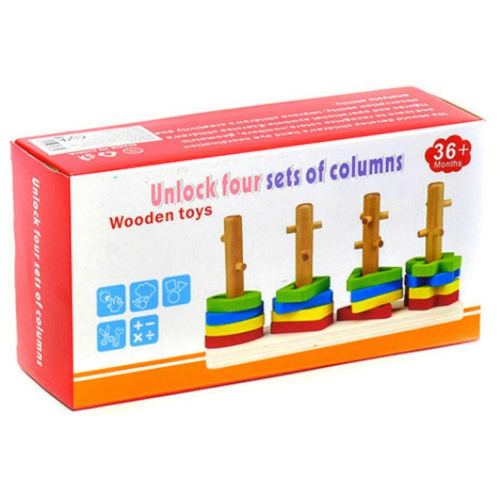 embalado do Encaixe de formas com 4 colunas