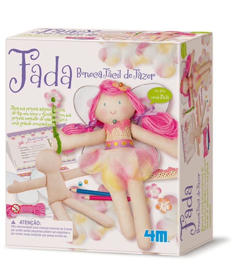 Embalagem do kit boneca fada fácil de fazer