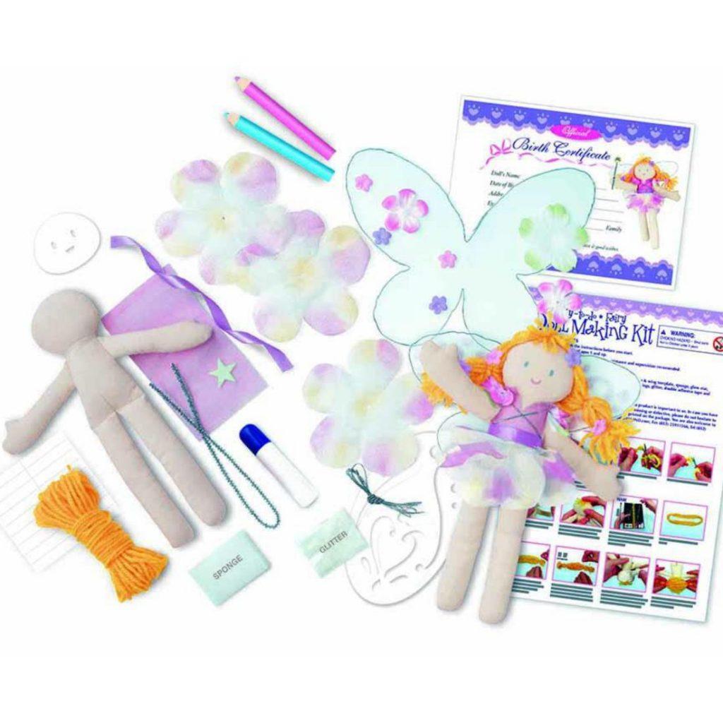 Conteúdo do kit boneca fada fácil de fazer