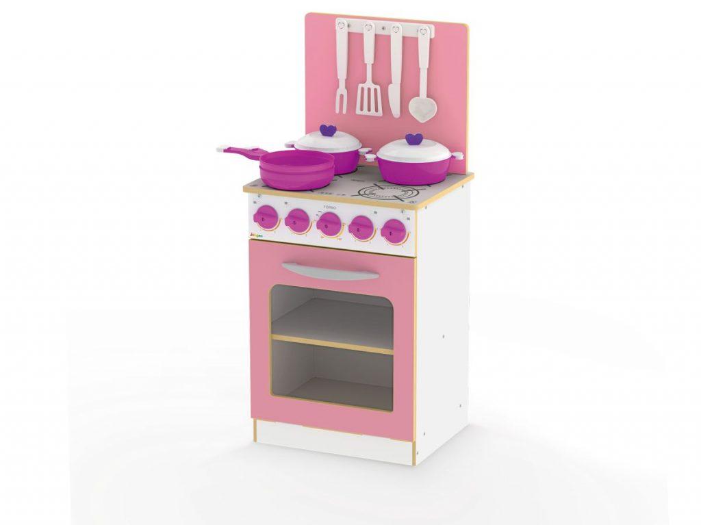 fogão super chef infantil rosa