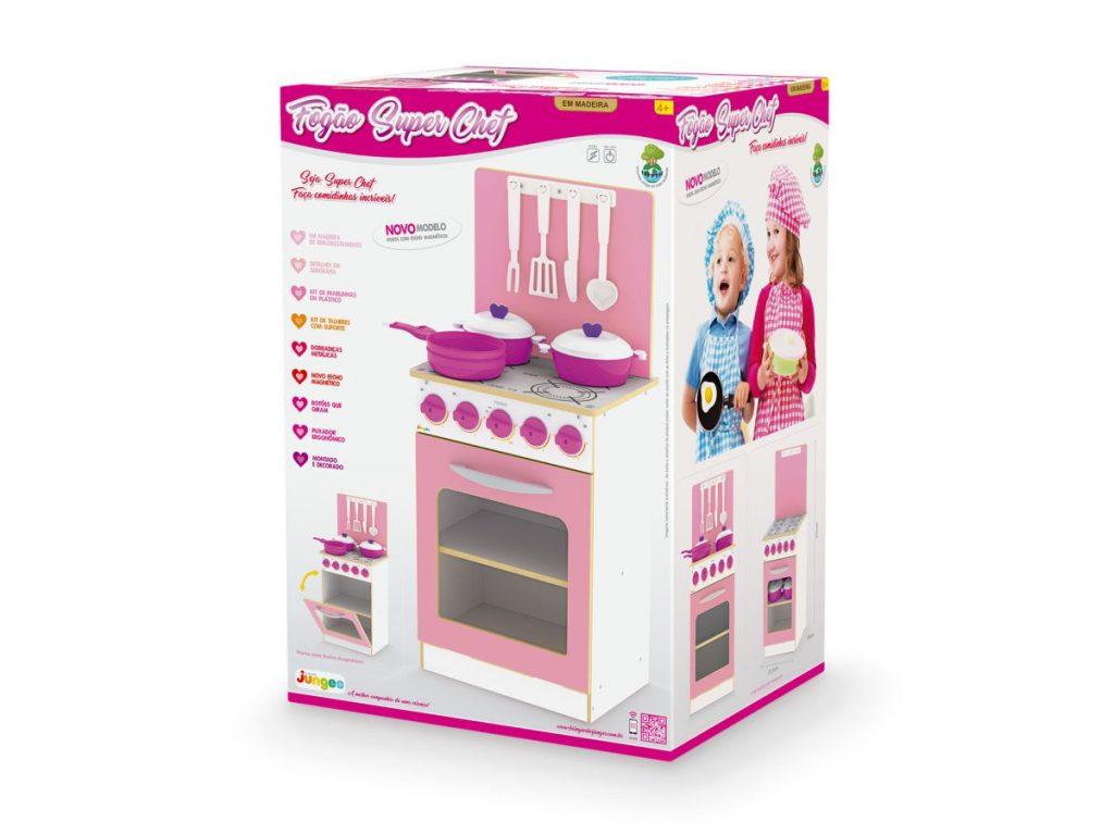 Embalagem fogão super chef infantil rosa