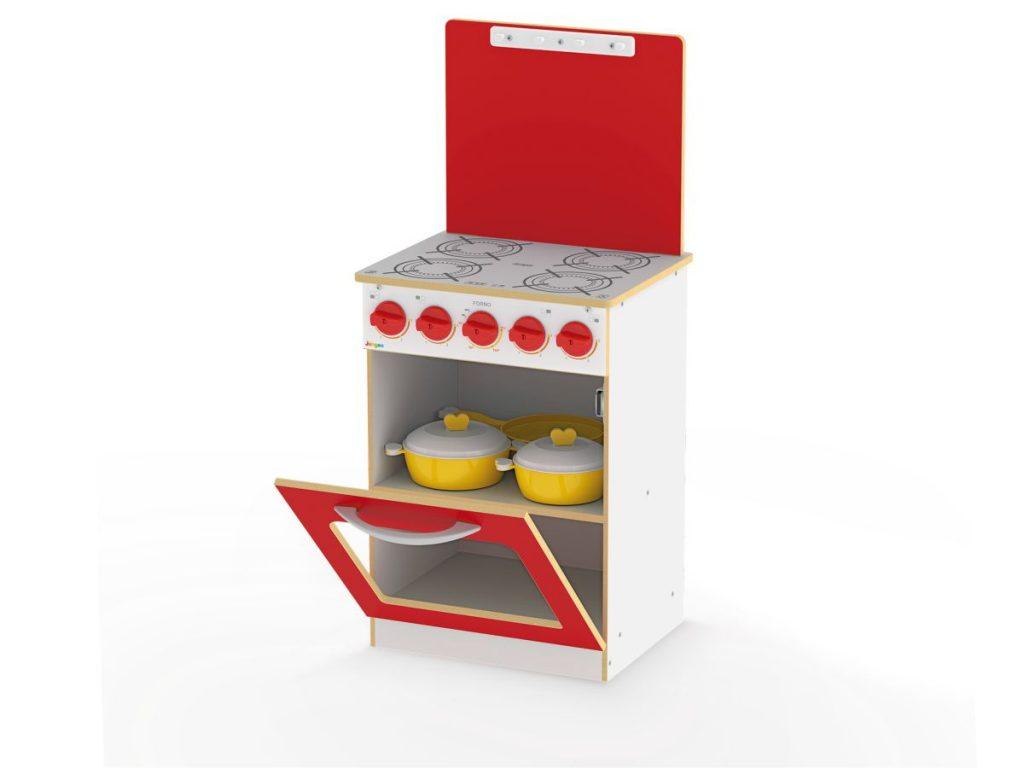 fogão super chef infantil vermelho