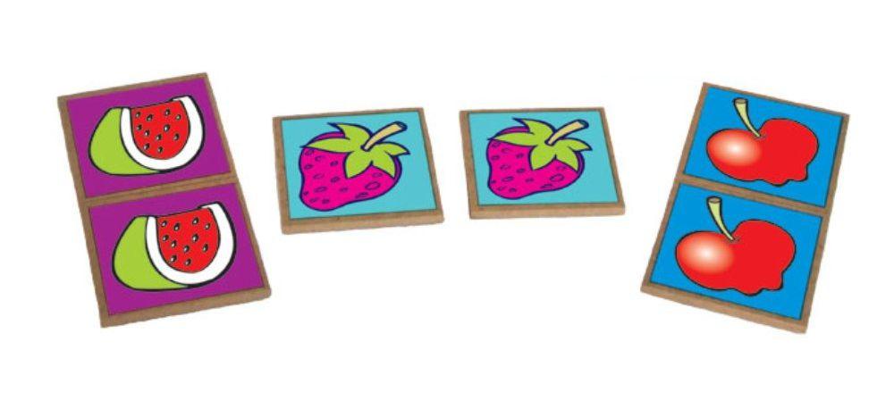 peças do Jogo da memória frutas, legumes e hortaliças