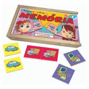 Jogo da memória meios de transporte e comunicação e suas peças