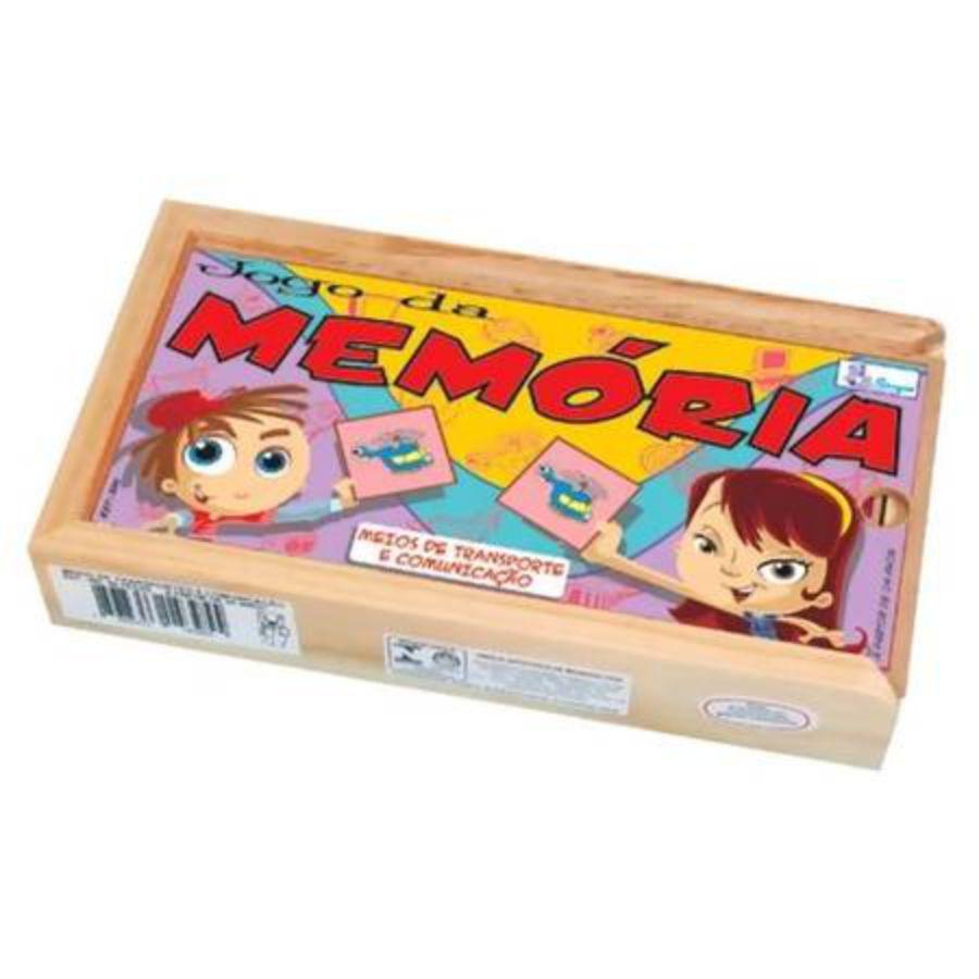 Estojo do Jogo da memória meios de transporte e comunicação