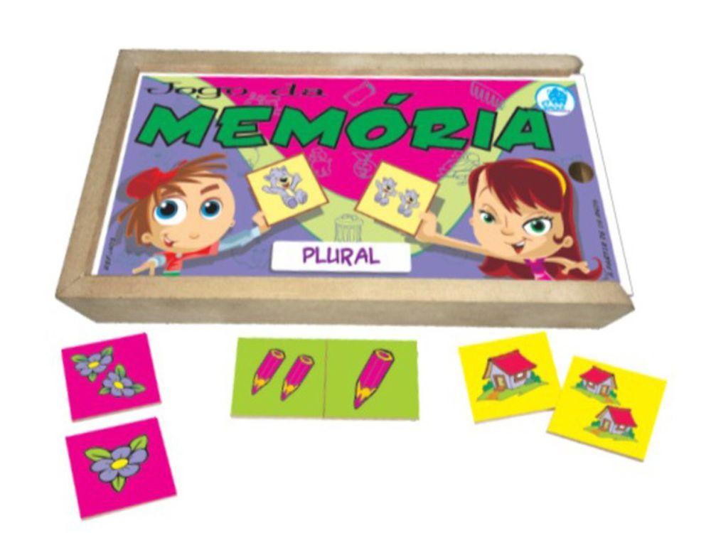 Jogo da memória plural e suas peças