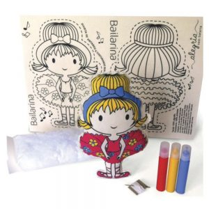 Exemplo do Kit boneca de pano bailarina feita
