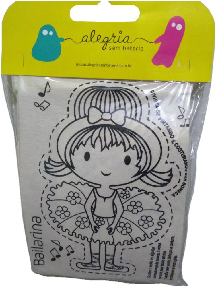 Embalagem do kit boneca de pano bailarina