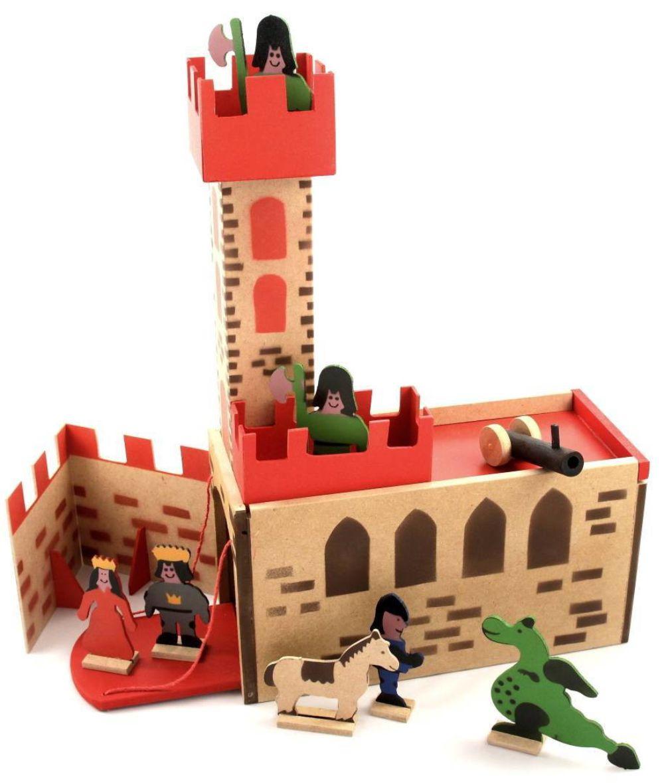 Cenário Castela Medieval de madeira montado