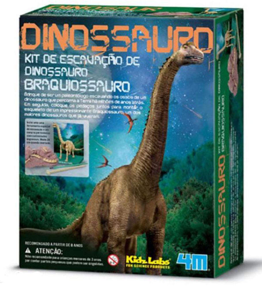 Embalagem do kit de escavação de dinossauro braquiossauro
