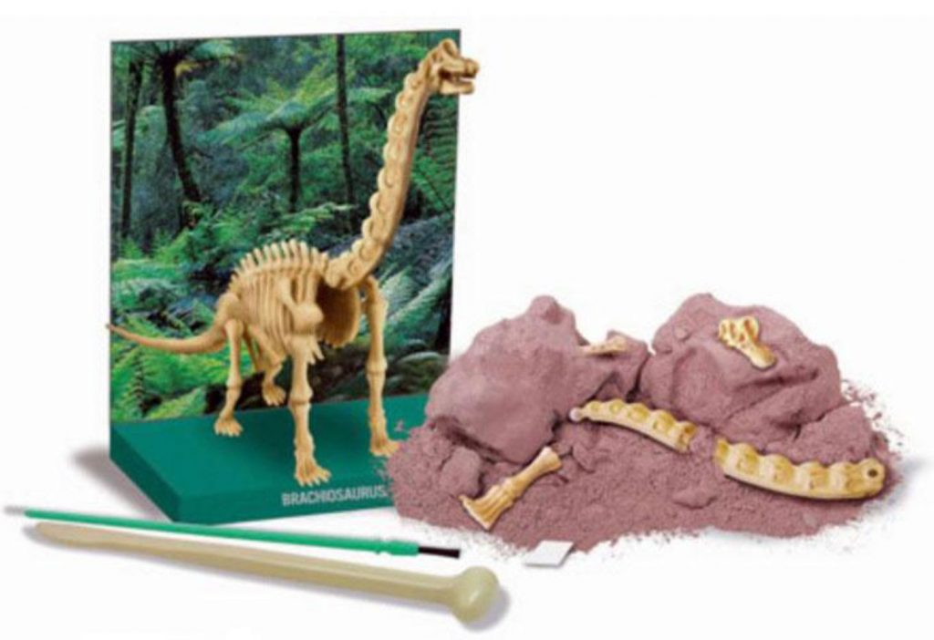 Peças do kit de escavação de dinossauro braquiossauro