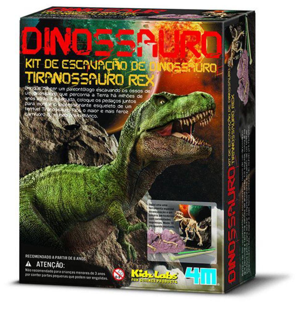 Embalagem do kit de escavação de dinossauro tiranossauro rex