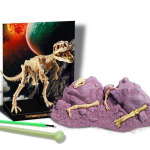 Peças do kit de escavação de dinossauro tiranossauro rex