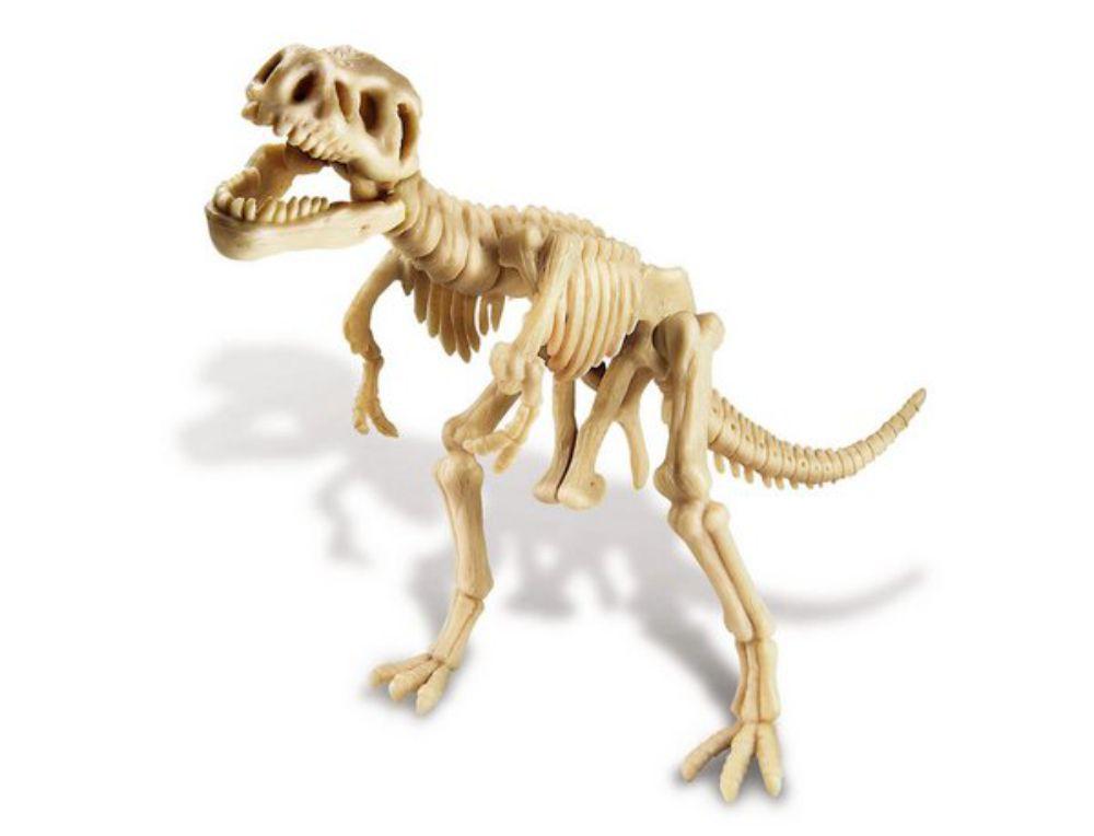 Dinossauro do kit de escavação de dinossauro tiranossauro rex montado