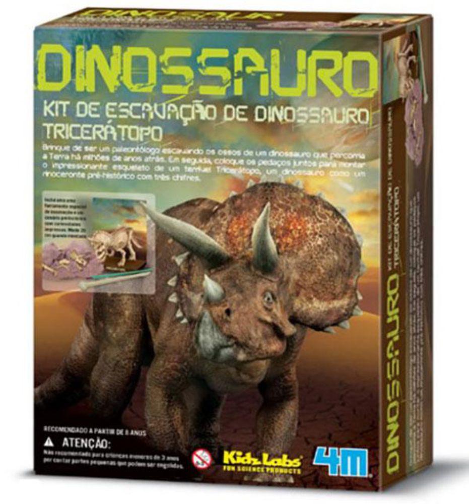 Embalagem do kit de escavação de dinossauro tricerátopo