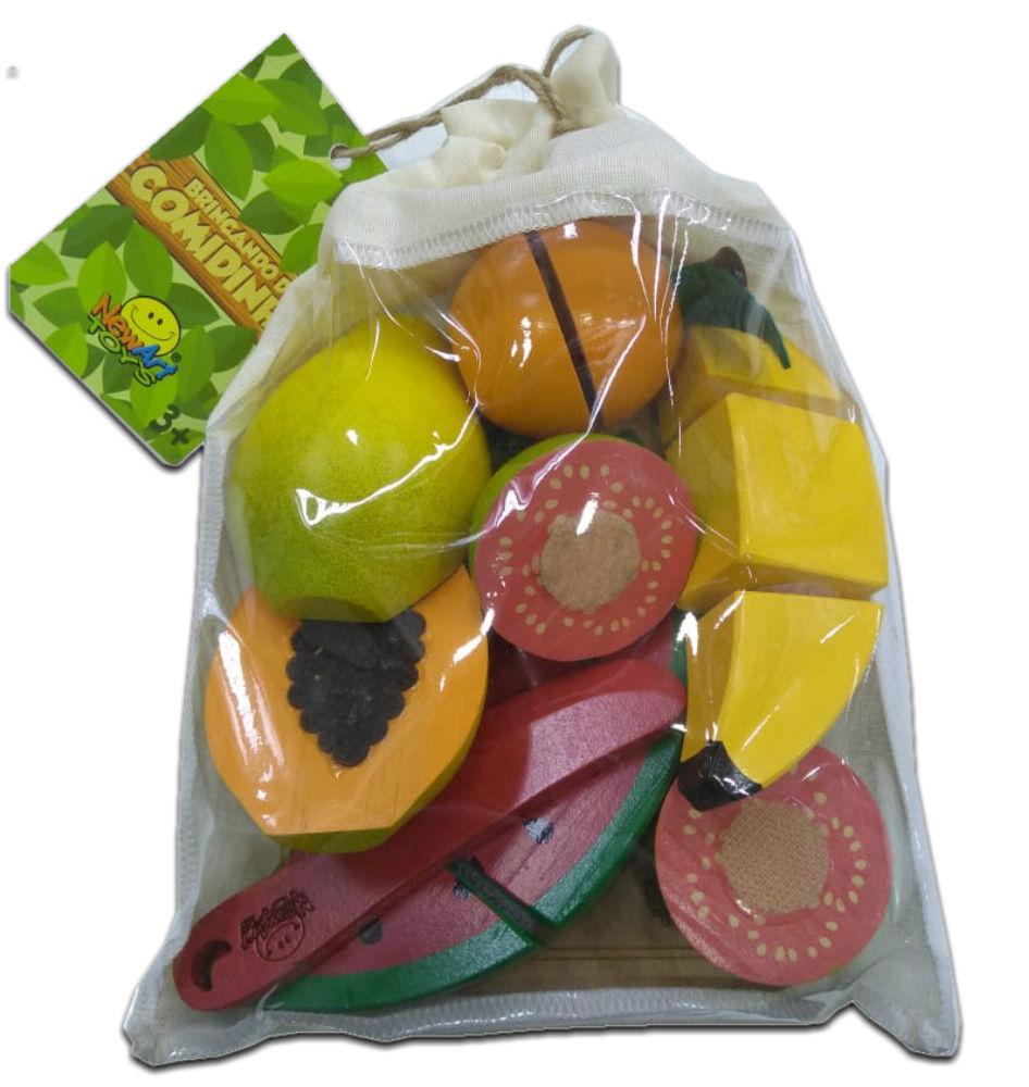 embalagem do kit frutinhas com 7 peças
