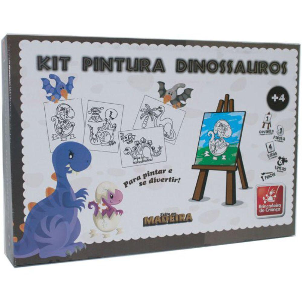 Embalagem do Kit Pintura Dinossauro