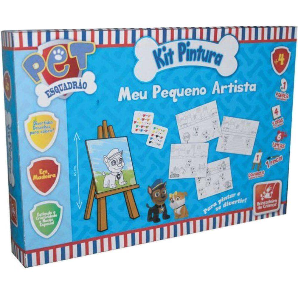 Embalagem do Kit Pintura Esquadrão Pet