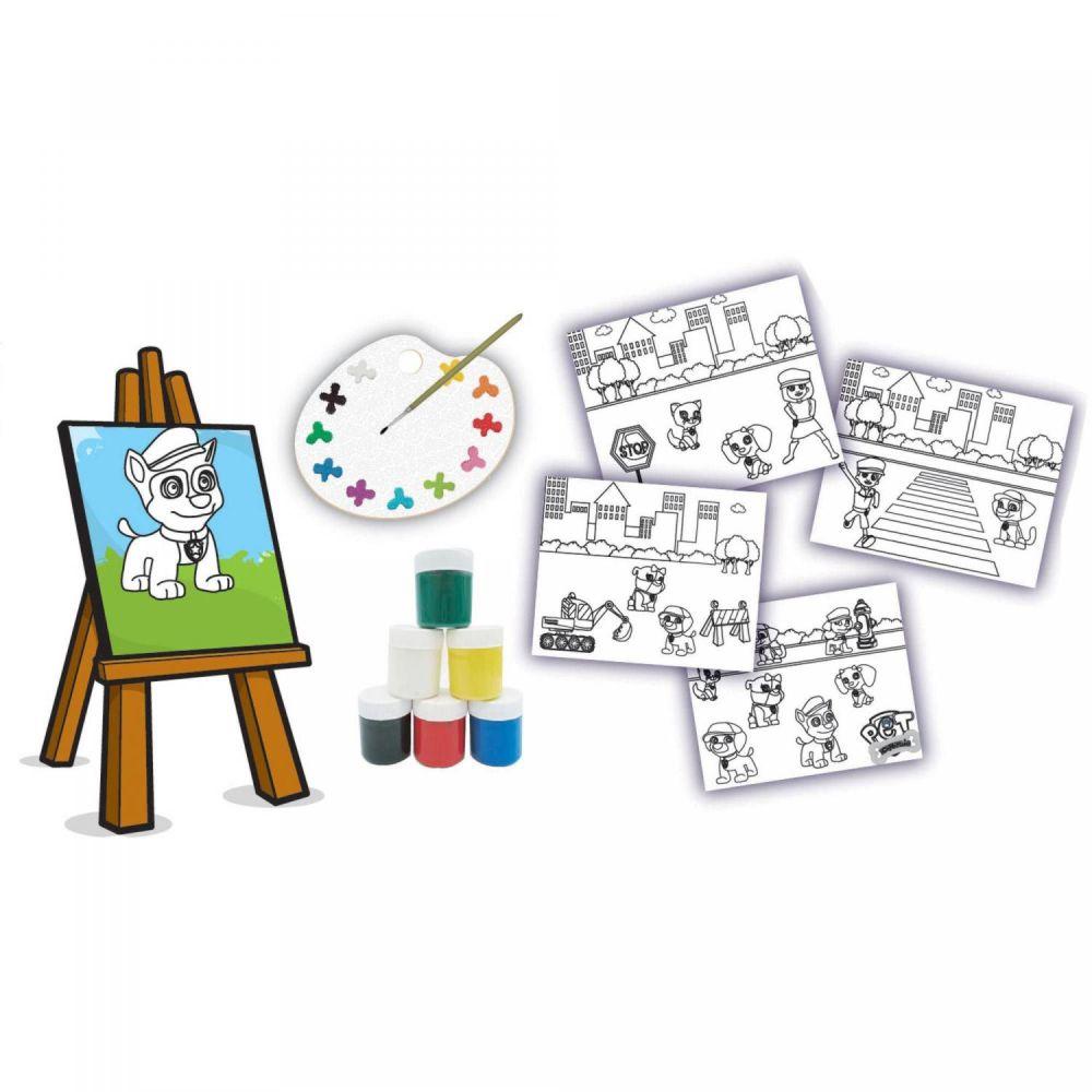Itens da embalagem do Kit Pintura Esquadrão Pet