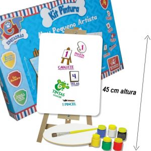 Kit Pintura Esquadrão Pet com itens da caixa a mostra