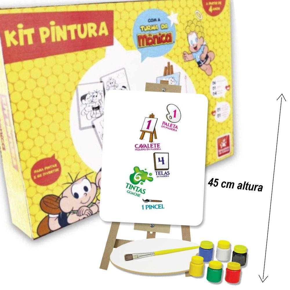 Kit Pintura Turma da Mônica com itens da caixa a mostra