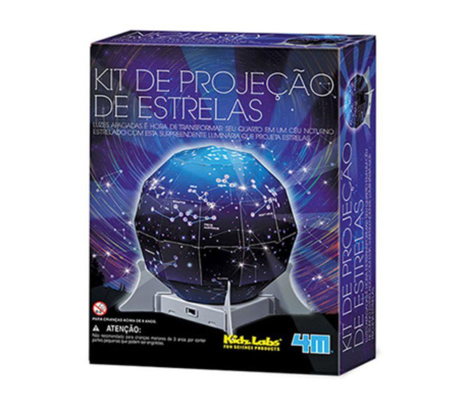 Embalagem do kit projeção de estrelas